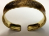 Cleopatra (Series) - Brass Hammer textured anticlastic cuff bangle bracelet.