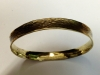Cleopatra (Series) - Brass Hammer textured anticlastic bangle bracelet
