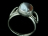 The Doormouse - Sterling silver ring with cabochon