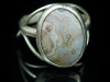 Sterling silver ring with cabochon