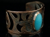 Victoria - copper cuff bracelet with cabochon