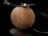 copper textured pendant