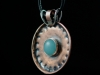 Mad as a Hatter (Series) - copper pendant with sterling silver and cabochon accents