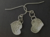 Reversible sterling silver earrings - back
