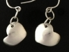 Reversible sterling silver earrings