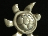 Lost Wax Cast Bronze Turtle Viking Turtle Brooches- Close Up