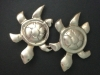 Lost Wax Cast Bronze Turtle Viking Turtle Brooches