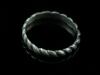 Rapunzel's climb - Sterling silver hand carved endless rope ring